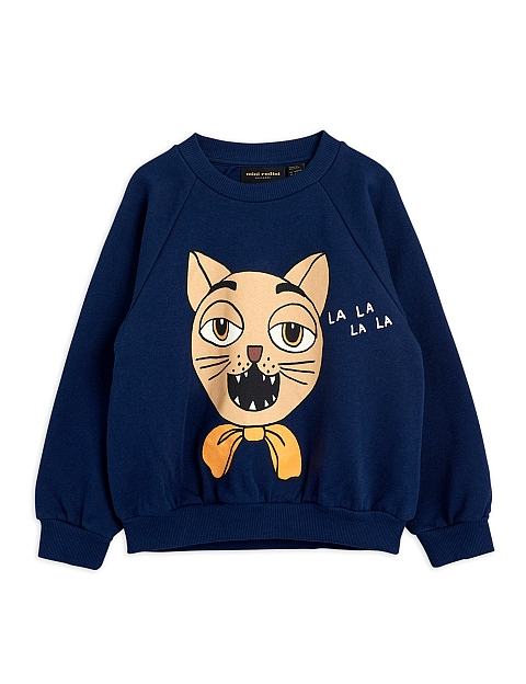 Mini Rodini Cat choir sp Sweatshirt  Navy
