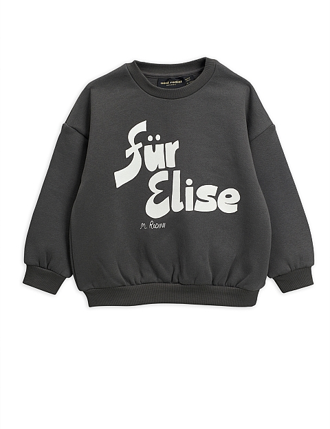 Mini Rodini Fur Elise Sweatshirt grey