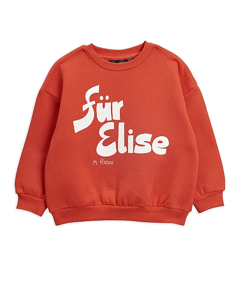Mini Rodini Fur Elise Sweatshirt red