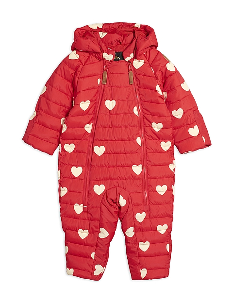 Mini Rodini  Hearts Baby Overall red