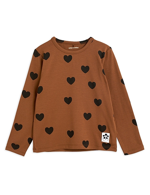Mini Rodini Hearts Tencel grandpa brown