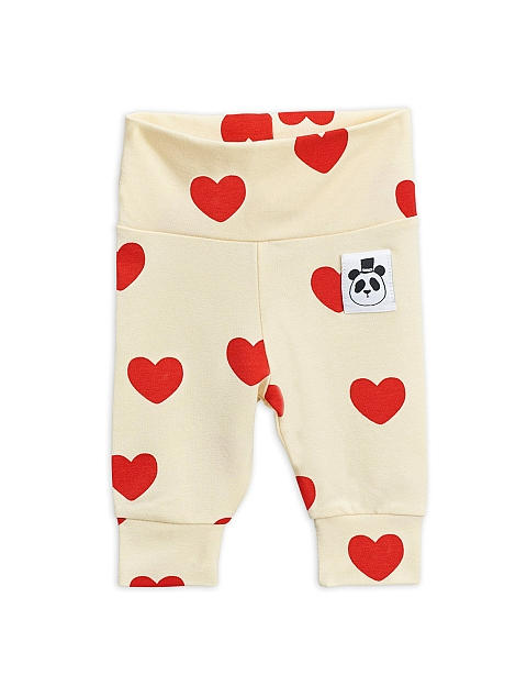 Mini Rodini Hearts Leggings offwhite Tencel
