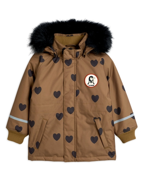 Mini Rodini  K2 Parka Hearts Brown