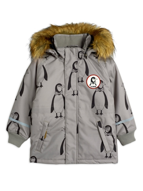 Mini Rodini  K2 Parka Penguin Grey