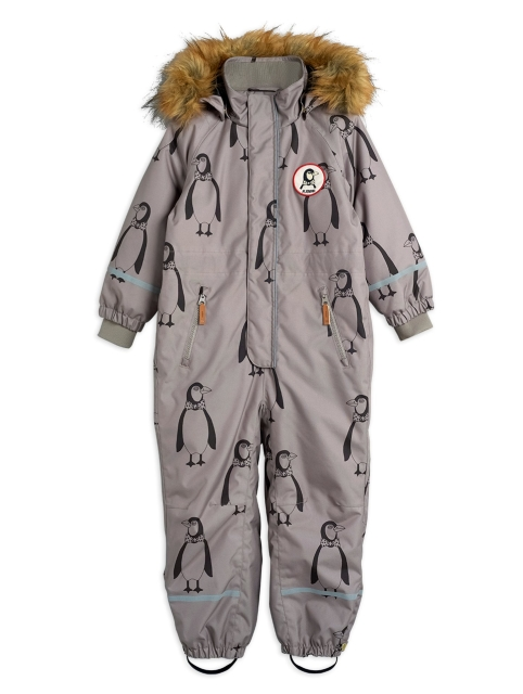 Mini Rodini  Kebnekaise Penguin Snowsuit Grey