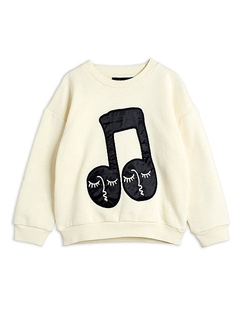 Mini Rodini Note patch Sweatshirt offwhite