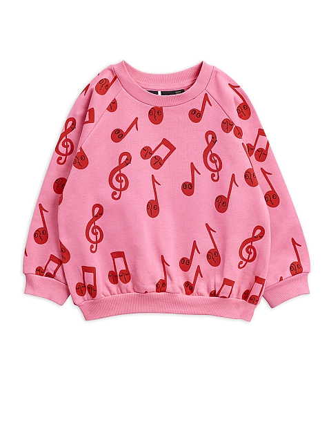 Mini Rodini Note aop Sweatshirt  pink