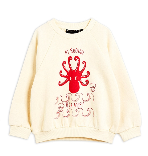Mini Rodini Octopus SP Sweatshirt offwhite