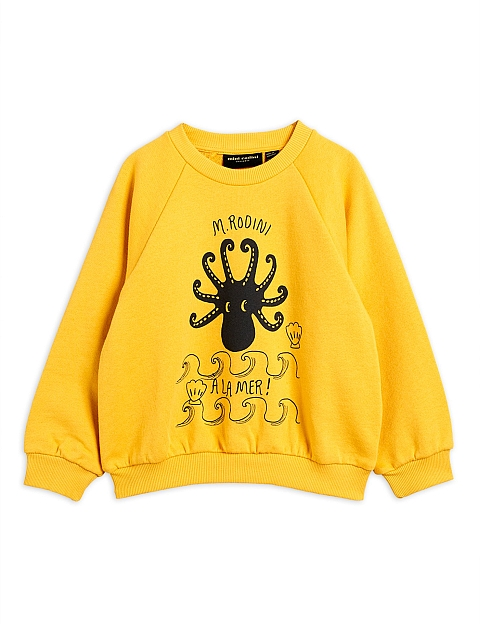 Mini Rodini Octopus SP Sweatshirt yellow