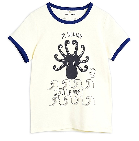 Mini Rodini   Octopus ss tee Blue