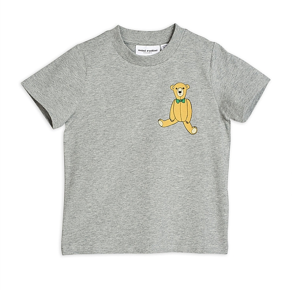 Mini Rodini Teddy sp ss Tee Grey melange
