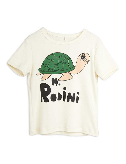 Mini Rodini Turtle sp ss tee pffwhite