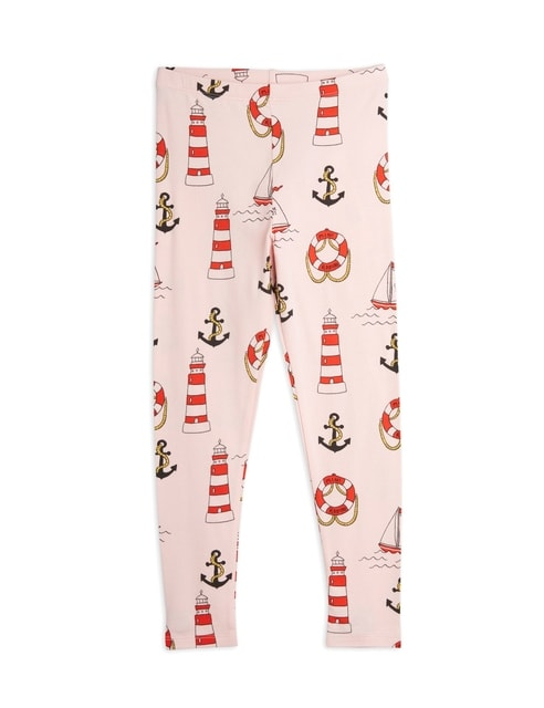 Mini Rodini Lighthouse aop Leggings pink