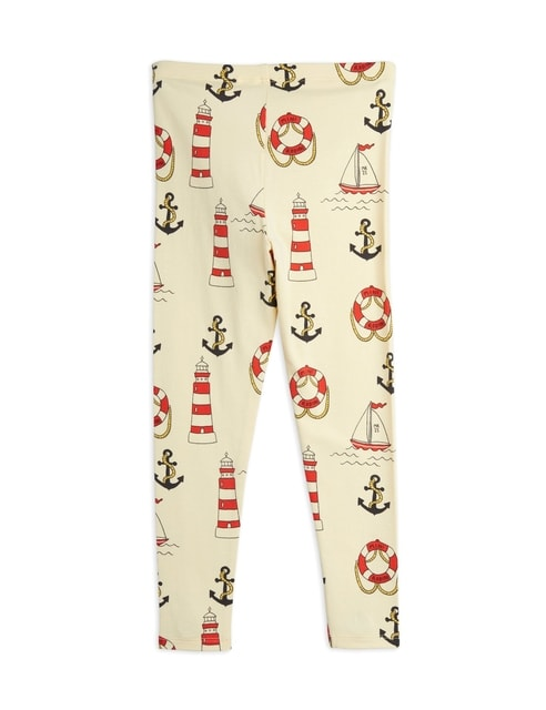 Mini Rodini Lighthouse aop Leggings yellow