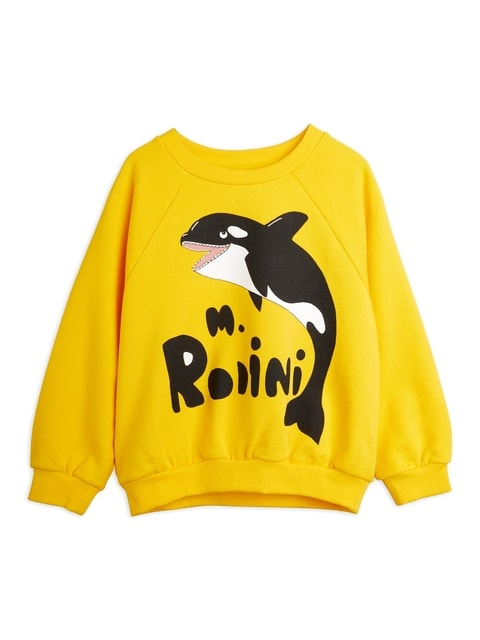 Mini Rodini Orca Sweatshirt sp Yellow