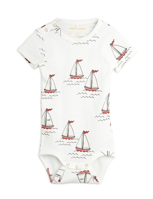 Mini Rodini Sailing boats aop ls body white