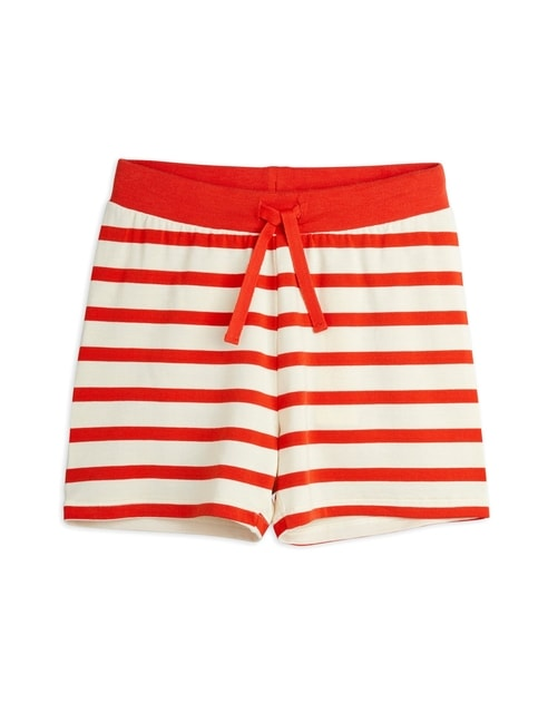 Mini Rodini Stripe Shorts red