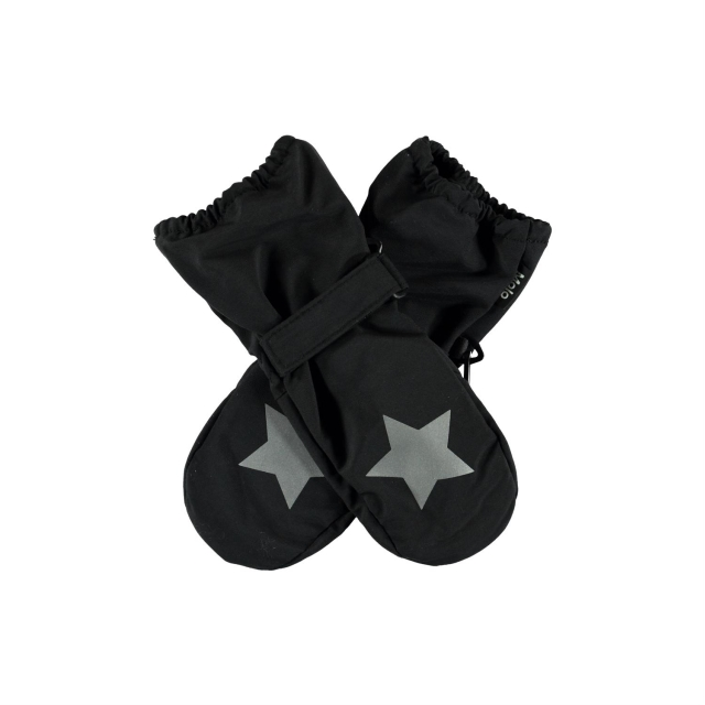 Molo Kids Igor Black Mittens summer