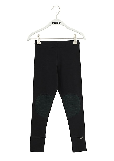 Papu Patch Leggings Black, School green