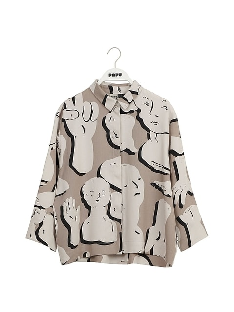 Papu Boheme Sculptures Shirt Grey